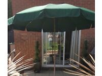 Extra Large 3m Green Crank Parasol Only (no base incl.) + cover * AVAILABLE NOW £30 *