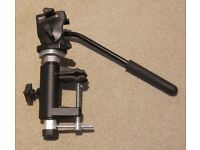 Manfrotto hide clamp, short column and 700RC2 fluid video head, for birdwatching