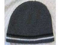 Hat in Grey With Stripes