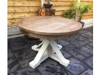 Reclaimed Timber Circular Dining Table, New / Unused
