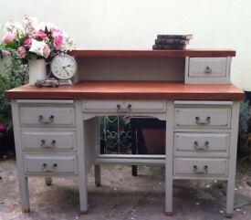 Stunning Twin-Pedestal Desk