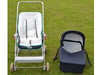 **FREE TO FIRST CALLER** - Silver Cross Wayfarer 2000 Pushchair Complete With Carrycot Attachment