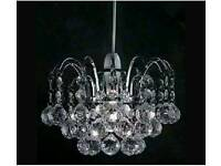 Crystal ball chandelier shade