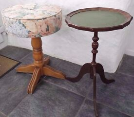 small table, foot stool, high stool £10- to clear