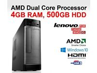LENOVO H505S / AMD - 450 / 4 GB RAM / RADEON HD 6320 / USB 3.0 / HDMI - WINDOWS 10