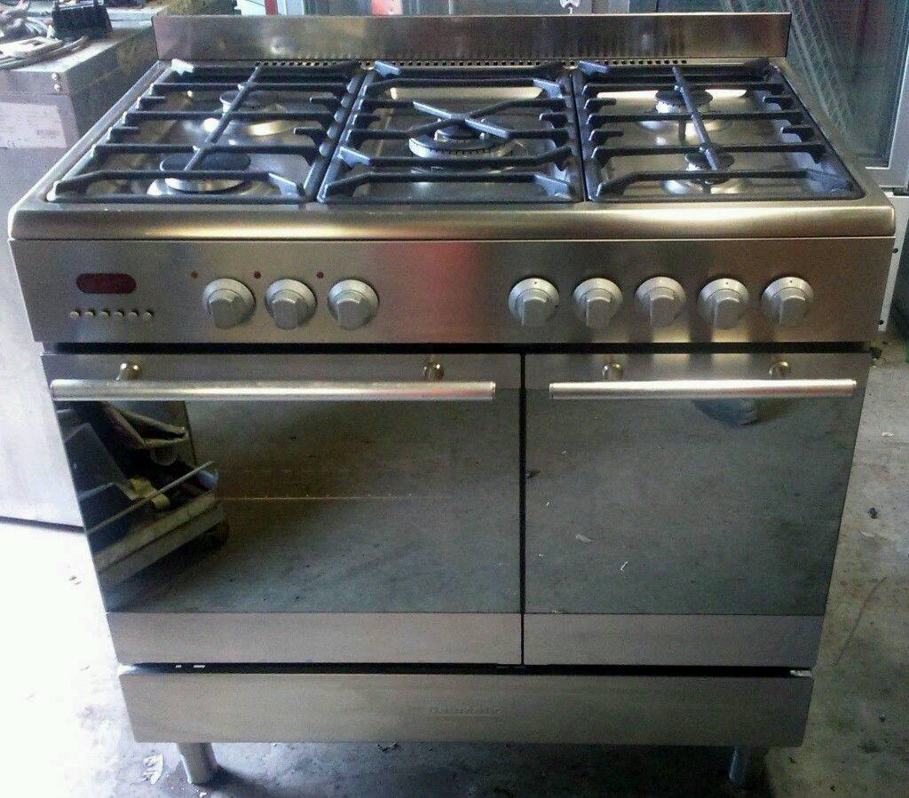 electric kitchen range baumatic bt2760ss dual electric and gas kitchen range with extractor fan