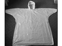 Disposable Festival Ponchos Rain Jacket - String Hood, Elastic sleeves **200 per box** Frampton