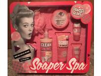 Now sold :) New boxed Soap and Glory giftset 'Soaper Spa'.