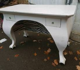 GREAT SOLID WOOD PAINTED DESK
