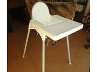 'Ikea' baby high chair 'Antilop'– white - FREE
