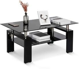 Stylish Black gloss and glass coffee table