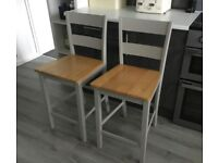 PaBreakfast Bar Chairs/ Stools *Only 6 Months Old*. BARGAIN £40