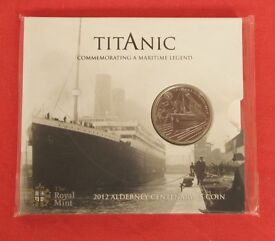 2012 Centenary of the Titanic £5 coin in BUNC SEALED Pack. FREE postage to UK mainland addresses.