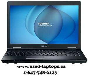 The Rugged Business Laptop 15.6' Toshiba, Dell i3,i5 Processor/4G/250-320G)$199
