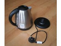 Cookworks cordless stainless steel electrical kettle, 1.7 litres