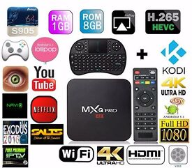 MXQ Pro S905 Android TV Box Jailbroken Fully Loaded XBMC KODI 16.1 Wi-Fi Free LIVE Sports & Movies