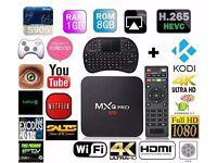 MXQ Pro S905 Android TV Box Jailbroken Fully Loaded XBMC KODI 16.1 Wi-Fi Free LIVE Sports & Movies