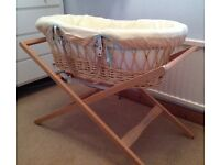 Moses Basket, Bedding and Stand