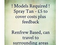 Spray Tan Models Required
