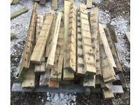 "50+ short lengths of 4x2"" timber wood 90-125cm"