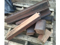 FREE !!! / WOOD / MAHOGANY PIECES - WOODTURNING? PROJECT? HOBBY? TOO GOOD TO BURN !!!!