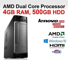LENOVO H505S / AMD - 450 / 4 GB RAM / RADEON HD 6320 / USB 3.0 / HDMI - WIN 10