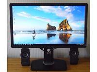 "Dell Ultrasharp U2312HM 23"" widescreen monitor with d-sub, DVi & HDMi (via an adaptor) inputs."