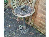 Antique Cast Iron Bird Bath Bowl