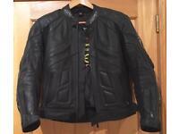 Black leather jacket biker motorbike