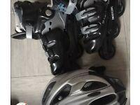 Kids Roller skates and helmet
