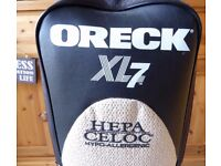 ORECK XL7 VACUUM COMPLETE WITH HAND VACUUM AND MANY SPARES - EXCELLENT CONDITION