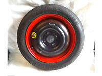 Ford Fiesta Space Saver Wheel -Tyre T125/80 R15 (RED) Originally from Ford Fusion