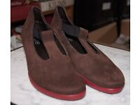 Arche Garby Brown Nubuck Leather With Red Sole and Heel