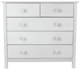 Kids Scandinavia 3+2 drawer Chest - White