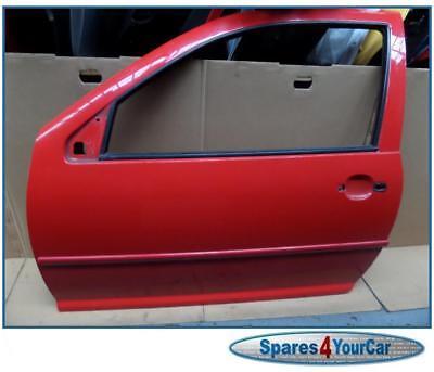 VW Golf MK4 98-03 Passenger  Front Bare Door (3 Door) Colour Red LY3B