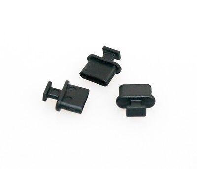 3x Staub-Schutz Abdeckung USB C-Buchse schwarz Caps Cover Staubschutz Stöpsel