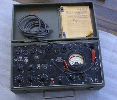 Excellent Working Vintage I-177 A Tube Tester Father Of Tv-7 Tested 5u4 274b