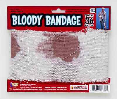 Bloody Gauze Bandage Wound Injury Fancy Dress Halloween Adult Costume Accessory