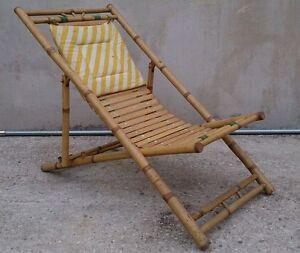 Sdraio Sedia Pieghevole In Bamb Bamboo Ebay