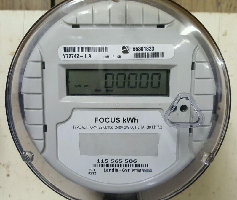 Solar Meter - Net Meter - Delivered and Received - 240 Volt Landis Gyr Focus