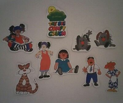 The Big Comfy Couch Molly Loonette Magnets 8 piece set