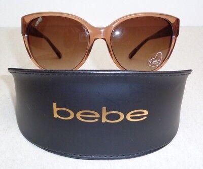 Bebe FOXY BB7079 Topaz Crystal Round Fashion Sunglasses New Womens Eyewear
