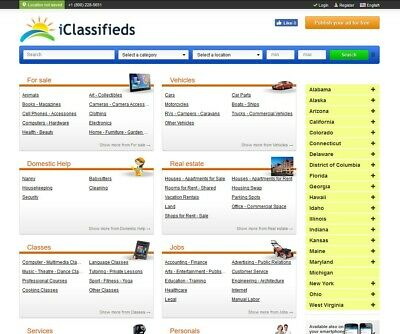 Pro Classifieds Website For Sale - Free Install Hosting With Ssl