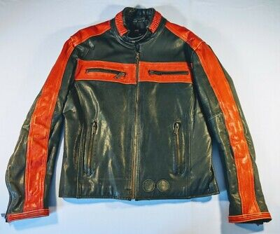 Diesel Mens Motorcycle Leather Jacket Size XXL