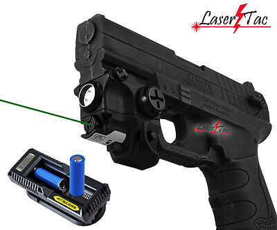 Lasertac Green Laser Light Combo for Springfield XD XD-S XDM Subcompact (Green Combo)