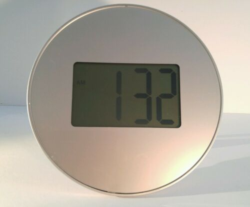 Round Wall/Desk Grey Digital Clock