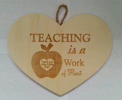 Personalized Heart Sign for Teacher Babysitter daycare Christmas School Gift  ()