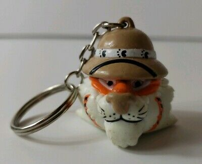 Exxon Mobil Tiger Hat Keychain Key Chain Vintage 1997 Put a Tiger in Your Tank