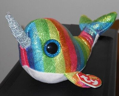 """Ty Beanie Boos - NORI the 6"""" Narwhal ~ 2018 NEW with MINT TAGS ~ IN HAND"""