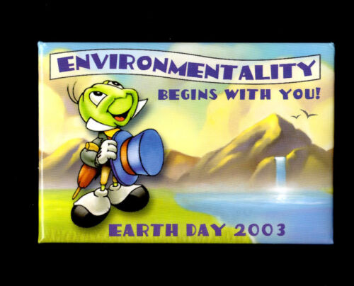 Disney Environmentality Begins with You Earth Day 2003 Button
